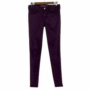 AE American Eagle Jegging Purple Jeans 4 X Long